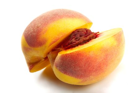 professionally: Peach Close-up. Professionally retouched high quality image.  Stock Photo