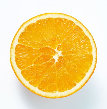 Orange cross section.