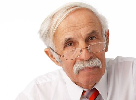Close-up portrait of an elder man loking at you Stock Photo - 7225192
