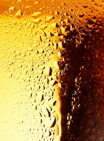 foam bubbles: Close-up picture of a golden bubbles of a beer on the glass.