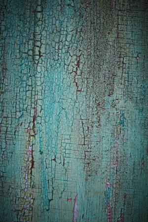 Turquoise weathered wood texture photo