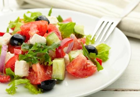 greek salad: delicious and nutritious, a fresh Greek Salad