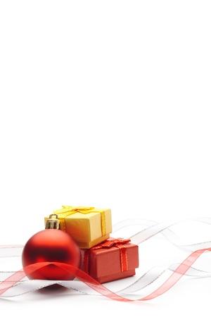 moños navideños: Fondo festivo de Navidad chuchería y cintas