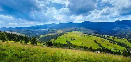 carpathian mountains: XXL Carpathian mountains panorama near Verkhovyna. Ukraine