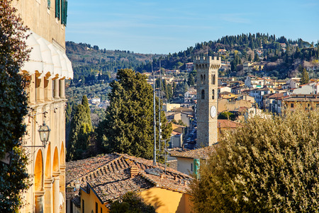 etruscan: Fiesole near Florence, Tuscany Italy. An ancient Etruscan village that overlooks Florence