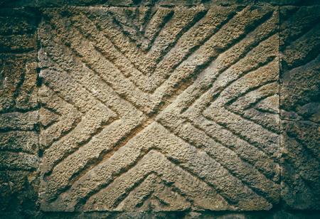 past civilizations: decorated stone Stock Photo