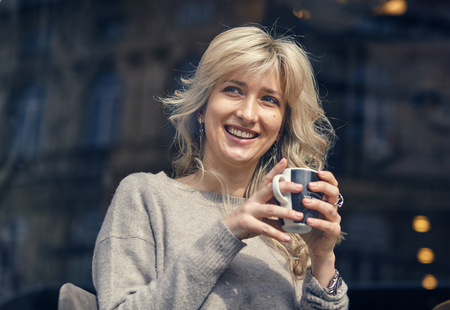 Portrait of a happy woman Stock Photo