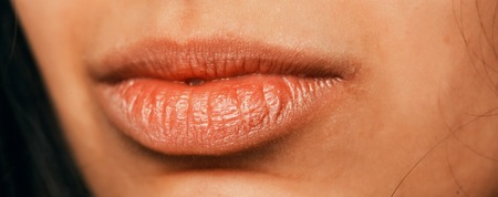 a beautiful arabic female lips close up Banque d'images - 108741768