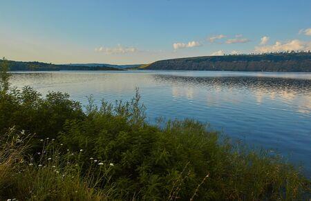 panoramic view of Dniester river near Stara Ushytsya village. Region of Western Ukraine
