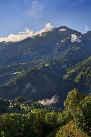 Mountain view near Chur, Switzerland Archivio Fotografico