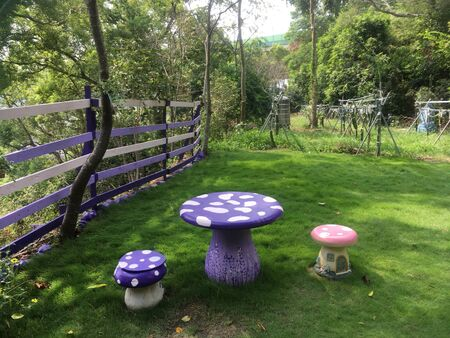 Mushroom table Banco de Imagens
