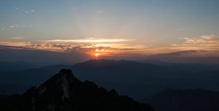 ding: Baiyun Mountain Sunrise Stock Photo