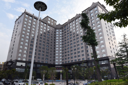 five stars: Building of five stars hotel in Henan
