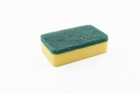 scouring: Sponge with scouring pad Stock Photo