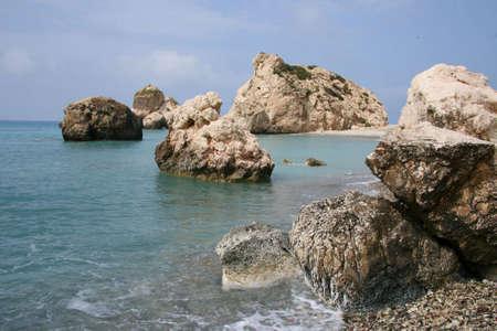 afrodita: Rock de Afrodita Foto de archivo