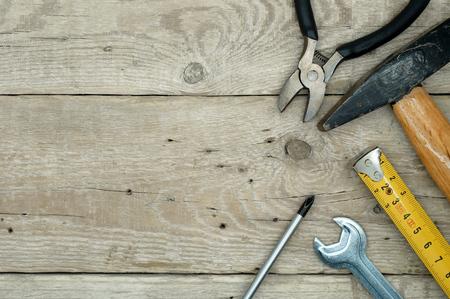 constructor: Equipo Handyman Foto de archivo