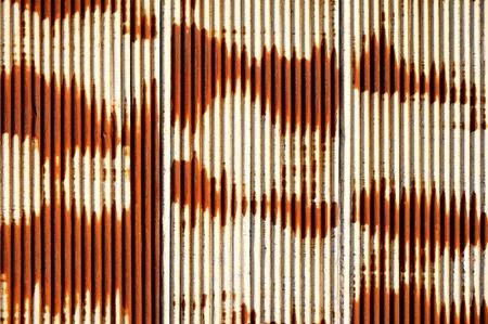 corrugated: Rusty Corrugated Metal Sheet