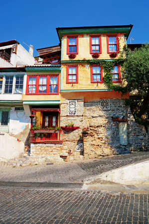 balkans: Traditional Architecture of the Balkans  A Colorful House in the Old City of Kavala