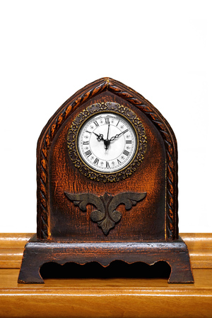 malleable: Antique Table Clock Stock Photo
