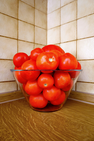 suitable: Bowl of Ripe Red Tomatoes Suitable for Sauce Stock Photo