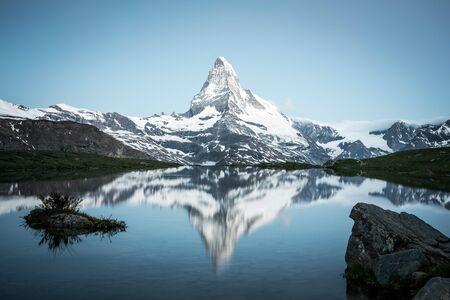 Matterhorn Reflection on Lake Stellisee, Swiss Alps
