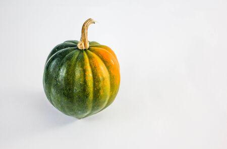 vegetable squash: green squash on white background Stock Photo