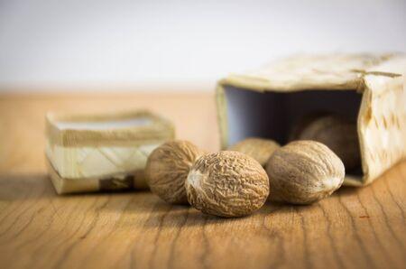 nutmeg: nutmeg was wood background
