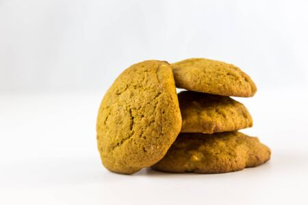 molasses: molasses cookies on a white background Stock Photo