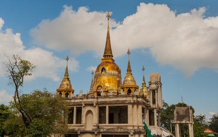 spirituell: Buddha Temple Thailand blauer Himmel