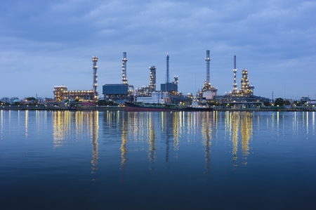 Refinery plant area in bangkok photo