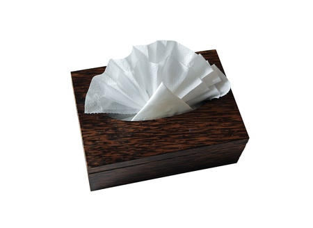 facial tissue: Facial Tissue Wipes and Dispenser Box on a White Background
