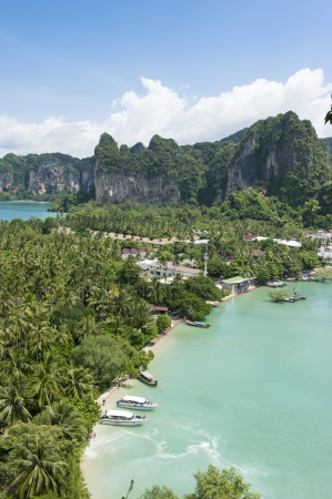 railay: Railay beach from viewpoint, Krabi province, Thailand