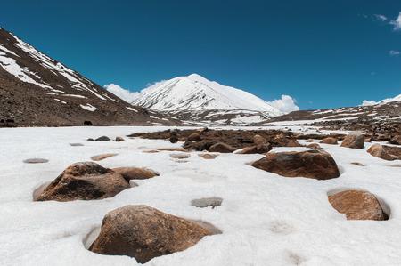 Landscape of himalaya mountain in ladak, leh india