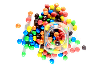 colorful candy with bottle photo