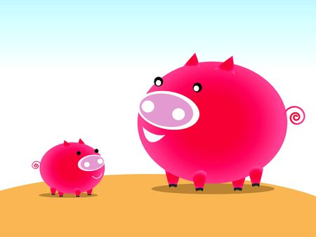oink: Pig character Stock Photo
