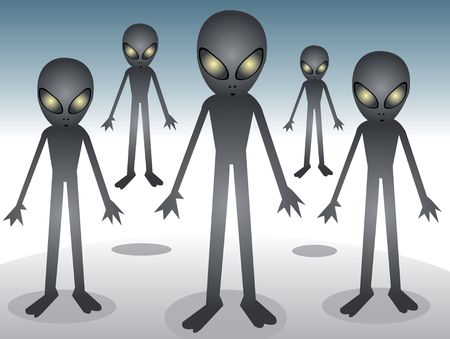 alien gang in illustration