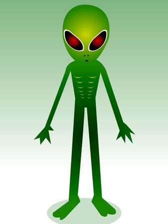 deviant: alien gang in illustration