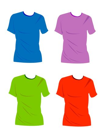dressy: Hand Drawn blank t- shirts for logo design or colors. easy to manipulate in . Stock Photo