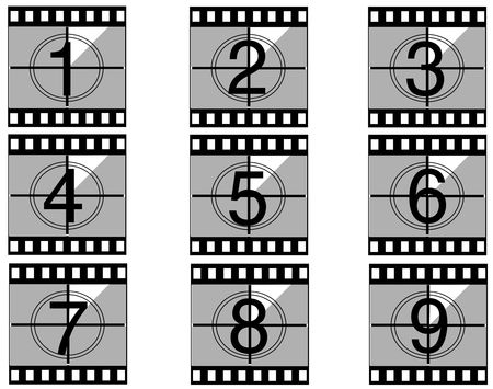 Film countdown just like in the movies