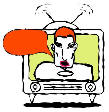 exersice: in tv Stock Photo