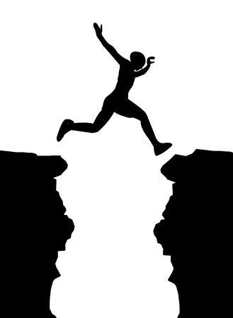 siloette: Jumping man vector