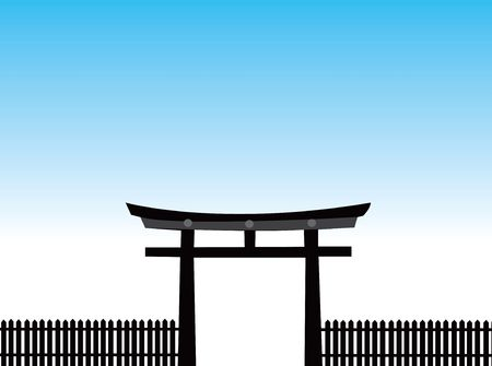 japan  vector scene. photo