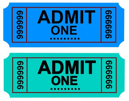 Photo of a Admit One Ticket and cinema ticket series photo