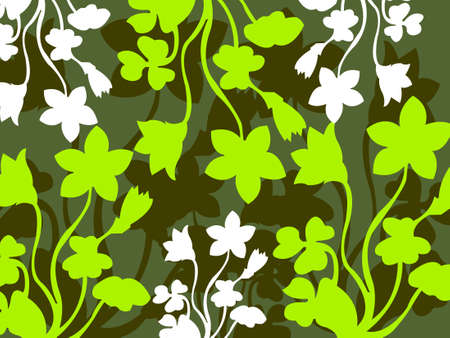 Plant Abstract background, vector illustration Stock Illustration - 638565