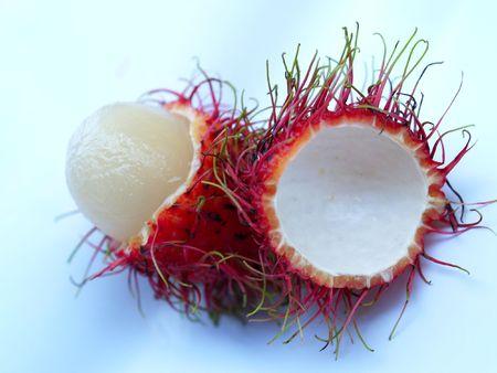 a  photo  of  delicious   Rambutan      Stock Photo