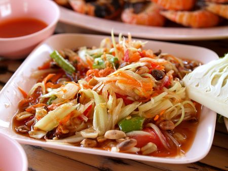a  photo  of  delicious   thai food