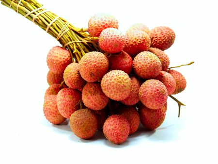 litchee: a  photo of  Litchi  fruit  in  thailand      Stock Photo