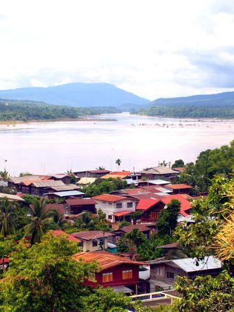 khongjiam: Amazing view above khongjiam in ubonrachthani  thailand