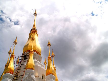 a  photo   of    view of  buddhist  architecture   thailand          Stock Photo
