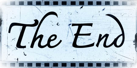the end Movie ending screen images  Stock Photo - 22375846